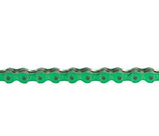 "KMC K710 Chain: 1/8"", 112 Links, Shiny Green"