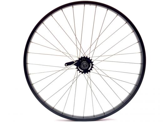 "26"" Matte Black Beach Cruiser Wheel Set ""San Diego Bicycle Co"""
