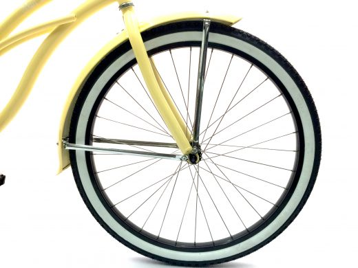 "Women's Garnet - Vanilla w Black ""San Diego Bicycle Co."" Beach Cruiser"