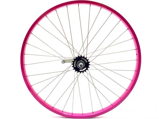 "26"" Hot Pink Beach Cruiser Wheel Set ""San Diego Bicycle Co"""