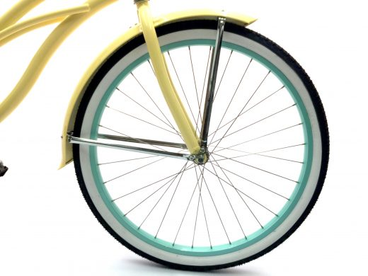 "Women's Garnet - Vanilla w Mint ""San Diego Bicycle Co."" Beach Cruiser"