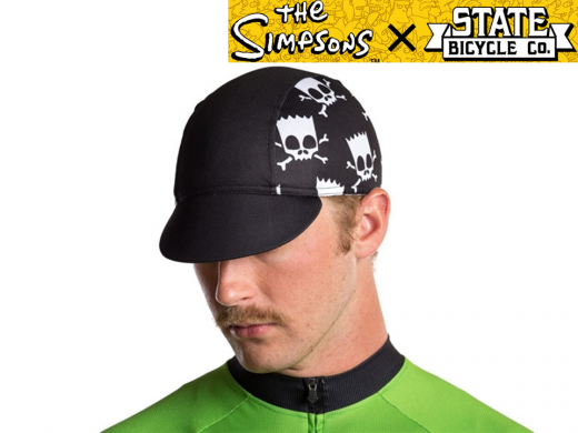 The Simpsons X State Bicycle Co. - Springfield Skull & Cross Bart Cap