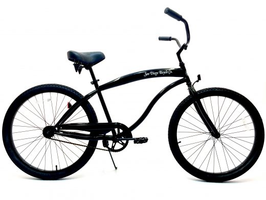 "High Tide Cruiser- Gloss Black ""San Diego Bicycle Co."""