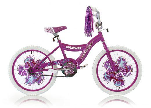 "Girls 20"" Dragon Bike Purple ""Micargi Bicycles"""