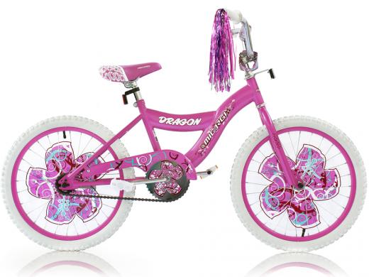 """Girls 20"""" Dragon Bike Pink """"Micargi Bicycles"""""""