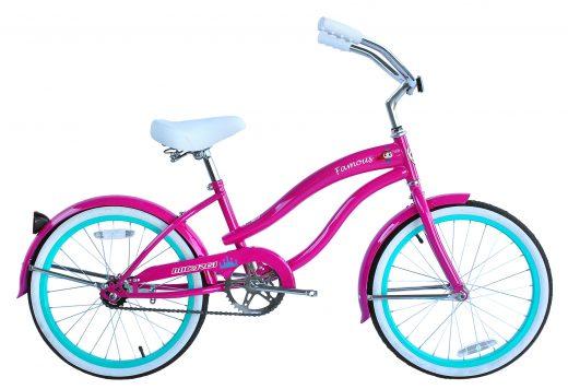 "Girls 20"" Famous Hot Pink Micargi Bicycles"