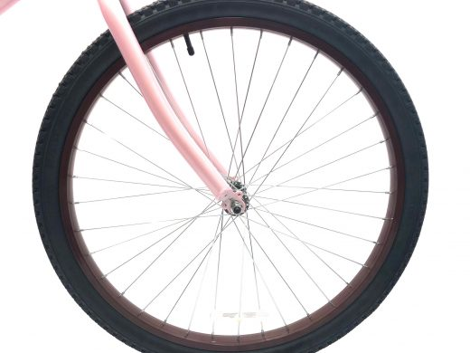 "Ladies Beach Babe Millennial Pink w Brown Rims ""San Diego Bicycle Co"""