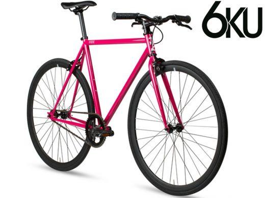 Fuschia 6ku fixed gear single speed fixie bike