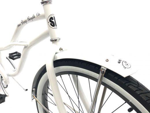"Ladies Garnet - Pearl White with Grey Rims ""San Diego Bicycle Co."""