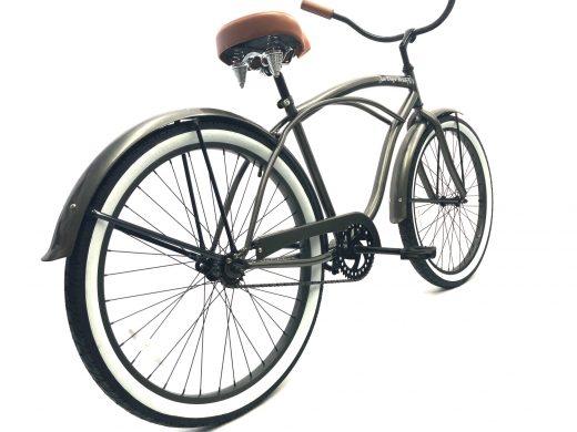 "Men's Garnet Glossy Grey w Brown & White Walls ""San Diego Bicycle Co."""