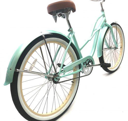 "Ladies Garnet - Sea Glass w Vanilla ""San Diego Bicycle Co."" Beach Cruiser"