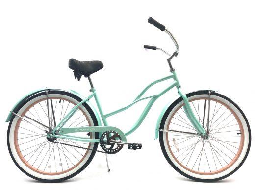 "Ladies Garnet - Sea Glass w Rose ""San Diego Bicycle Co."""