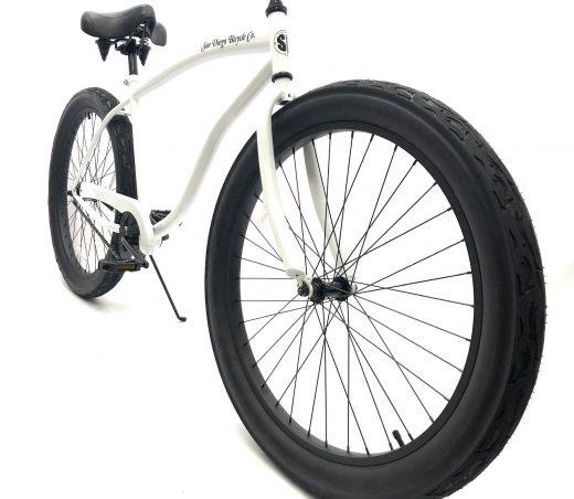 "Fat Tire 3.0 - Pearl White ""San Diego Bicycle Co."" Beach Cruiser"