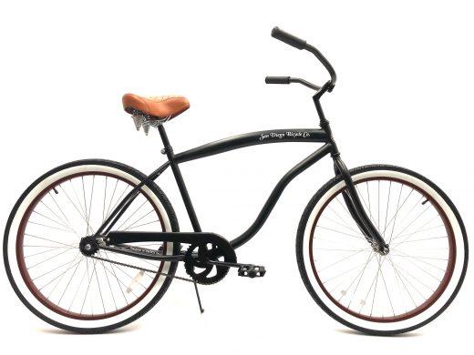 "High Tide Cruiser- Matte Black ""San Diego Bicycle Co."""
