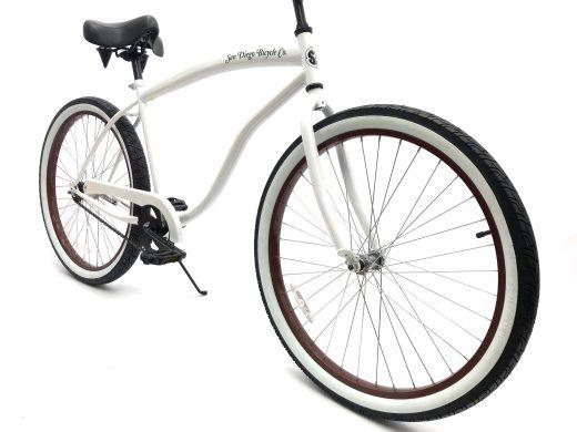 "High Tide Cruiser- Gloss White ""San Diego Bicycle Co."""