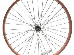 "26"" Rose Gold Beach Cruiser Wheel Set ""San Diego Bicycle Co"""