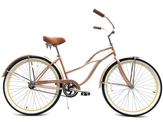 "Ladies Garnet - Rose Gold w Vanilla ""San Diego Bicycle Co."""