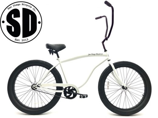 """Fat Tire 3.0 Chopper - Pearl White """"San Diego Bicycle Co."""""""