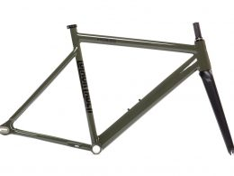 6061 State Bicycle Co Black Label V2 Track Frame Set Army Green