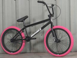 2022 Sunday BMX Blueprint Gloss Black w Pink Tires 20.tt