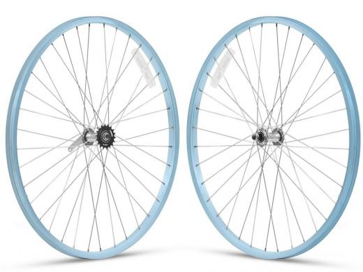 "26"" Baby Blue Beach Cruiser Wheel Set ""San Diego Bicycle Co"""