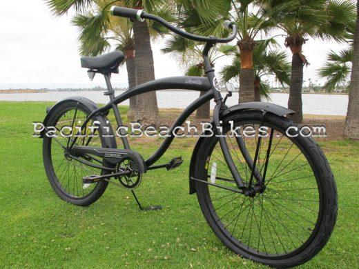 Stealth Mens Matte Black Beach Cruiser Micargi Bcycles