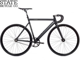 """6061 Black Label Matte Black v2 """"State Bicycle Co."""""""