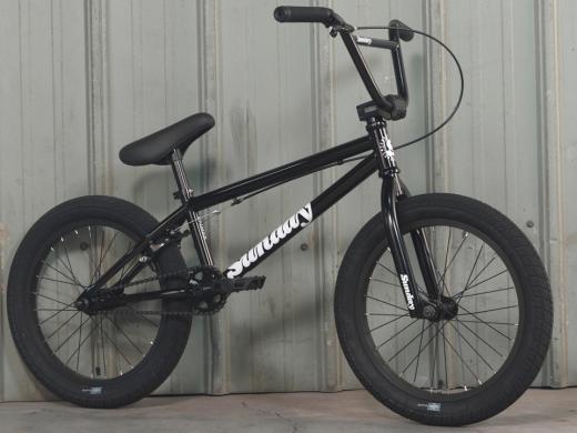 2022 Sunday BMX Primer 18in Gloss Black 18.5tt
