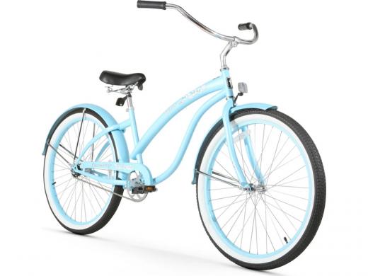 Firmstrong Bella Classic Single Speed - Women's 26 Beach Cruiser Bike Baby Blue