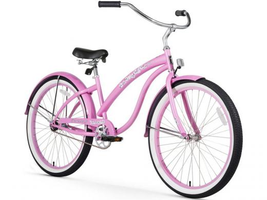 Firmstrong Bella Classic Single Speed - Women's 26 Beach Cruiser Bike Pink