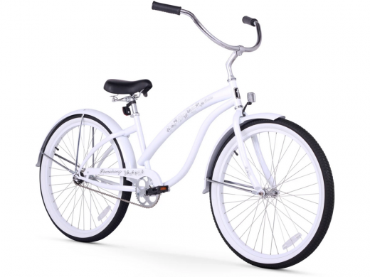 Firmstrong Bella Classic Single Speed - Women's 26 Beach Cruiser Bike White