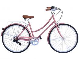 ROASCA V7 7 Speed City Bike Micargi Bicycles Rose Gold
