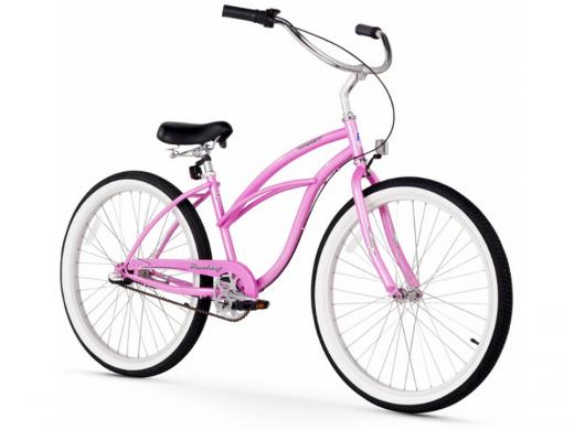 Firmstrong Urban Lady 3 Speed - Women's 26 Beach Cruiser Bike Pink
