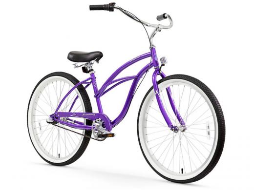 Firmstrong Urban Lady 3 Speed - Women's 26 Beach Cruiser Bike Purple