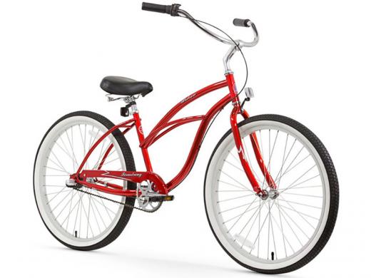 Firmstrong Urban Lady 3 Speed - Women's 26 Beach Cruiser Bike Red