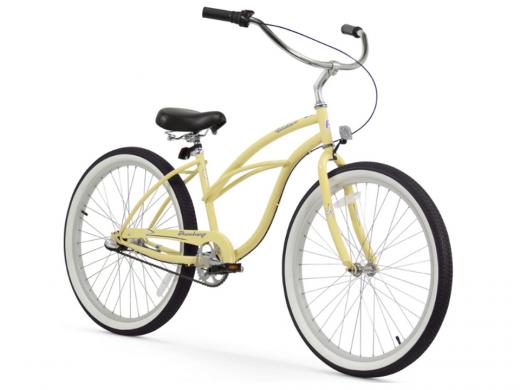 Firmstrong Urban Lady 3 Speed - Women's 26 Beach Cruiser Bike Vanilla
