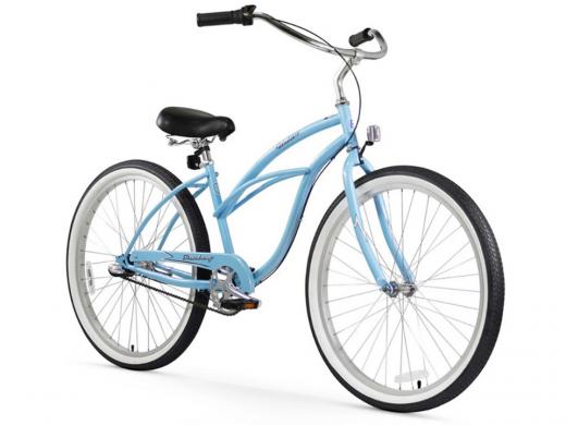 Firmstrong Urban Lady 3 Speed - Women's 26 Beach Cruiser Bike Baby Blue